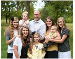Pastor Jeff Hastings family, Columbia, Missouri, Bible Baptist Church